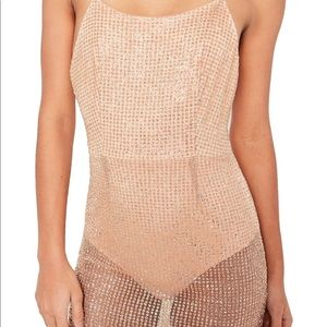 Missguided. Glitter sheer maxi dress with bodysuit